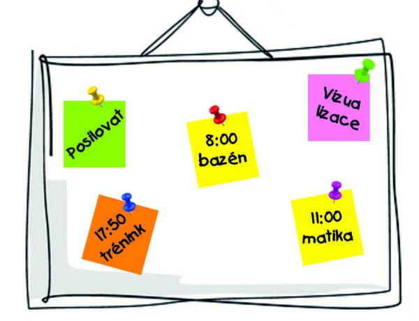 Tabule, vzkazy, board, sticky paper