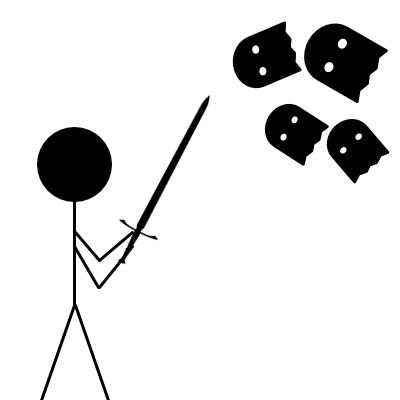 Panáček bojuje proti špatným myšlenkám co nedávají smysl