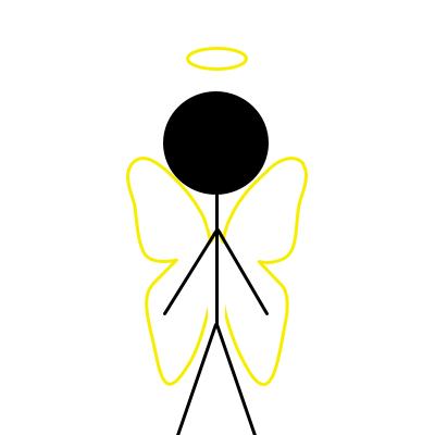 anděl jako dobré emoce a klid