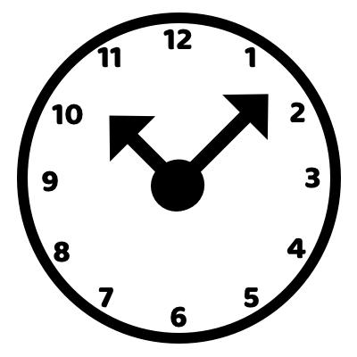 hodiny symbolizující čas na meditaci